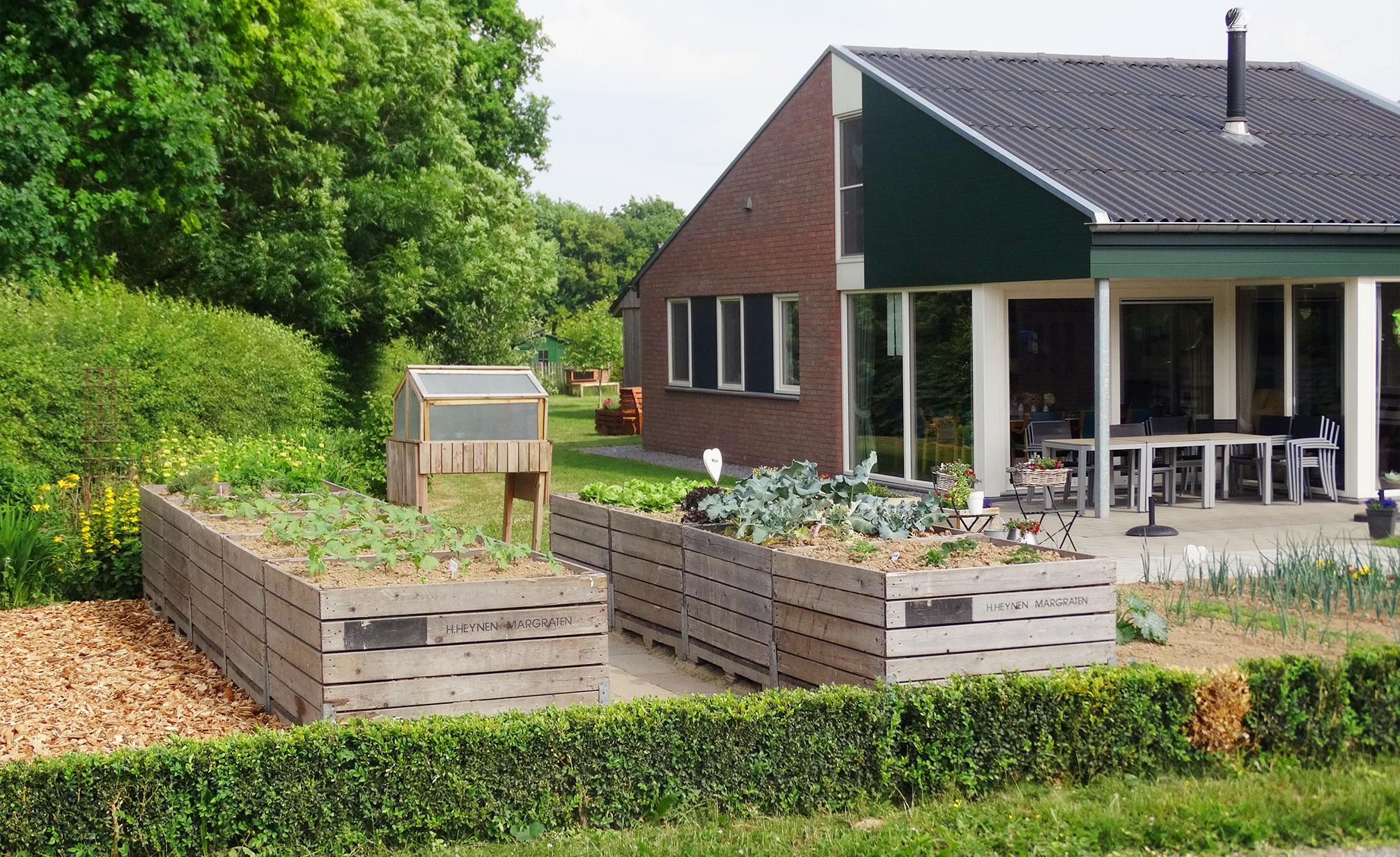 De tuin van Zorgboerderij Ravensbosch Hulsberg